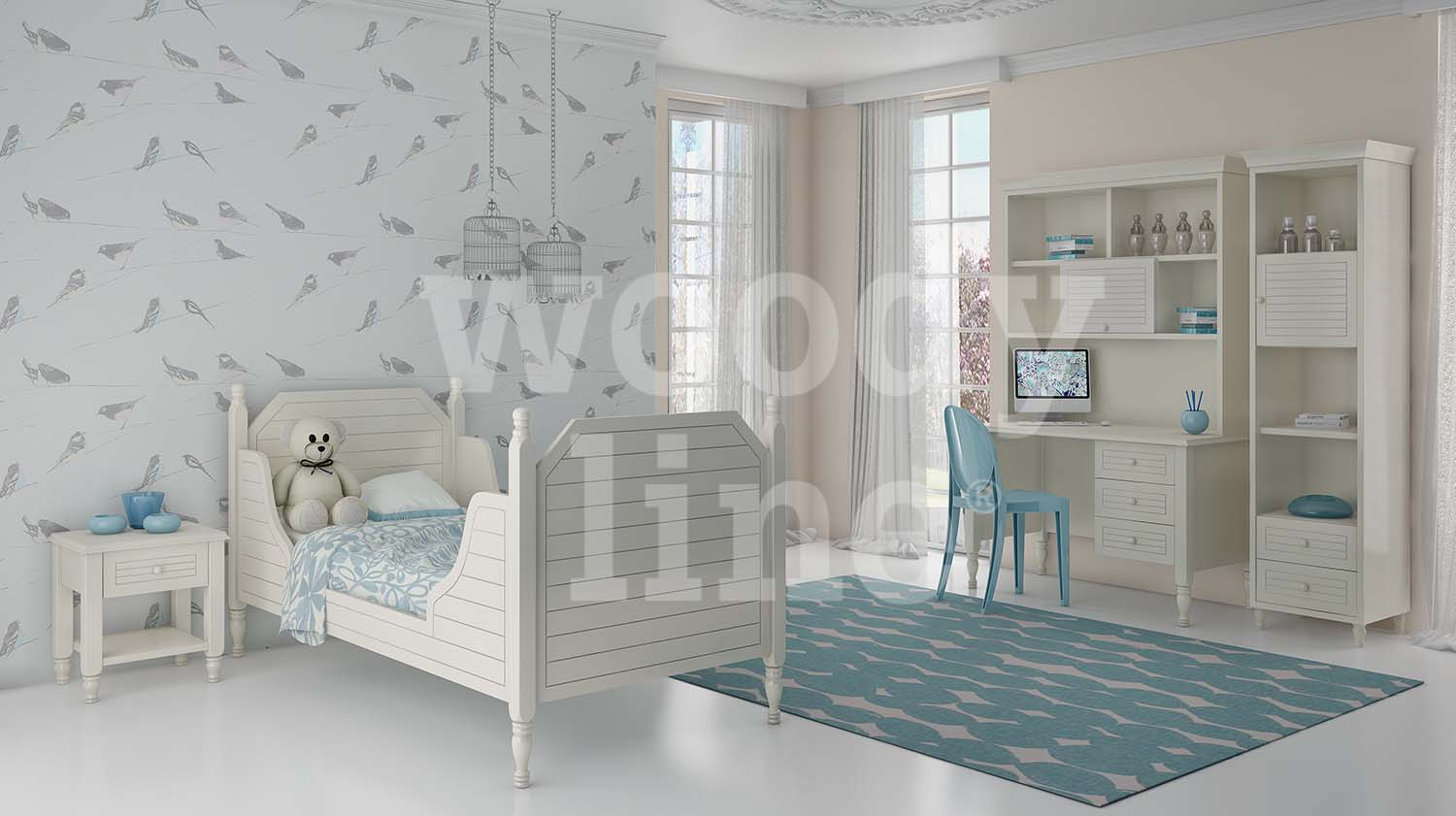 Kids bedroom CLASSIC 2 Lacquer No. 29