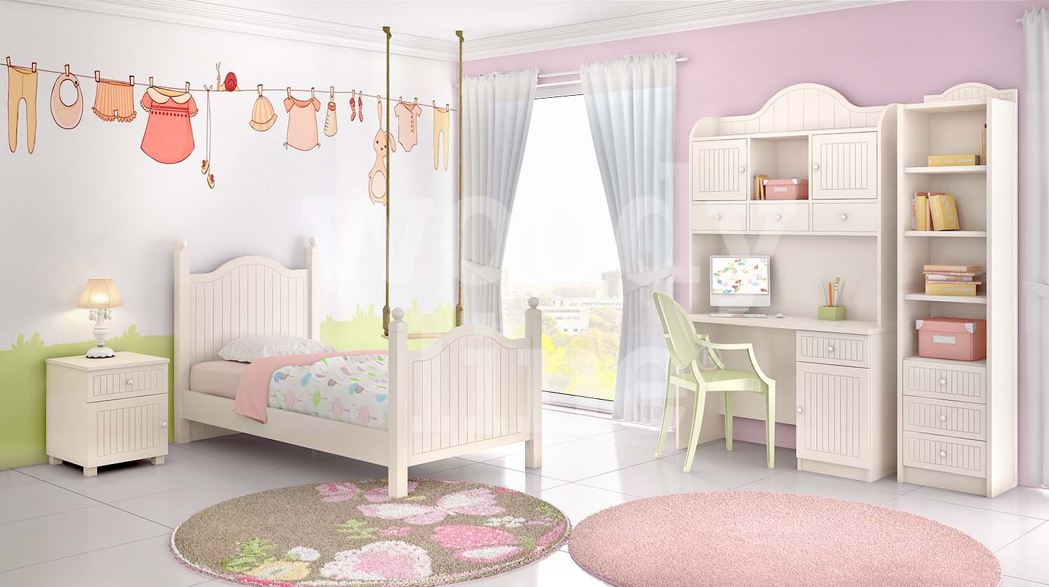 Kids bedroom CLASSIC 3 Lacquer No. 29