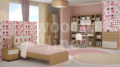 ca589afc1c7 ΠΑΙΔΙΚΑ ΕΠΙΠΛΑ - ΝΕΑΝΙΚΑ ΕΠΙΠΛΑ - Παιδικά δωμάτια από ξύλο μασίφ - MDF  καπλαμά->Παιδικό κρεβάτι 100 εκ. (ΣΚΥΡΟΣ 1 - Δρυς Ντεκαπέ) - woodyline.gr