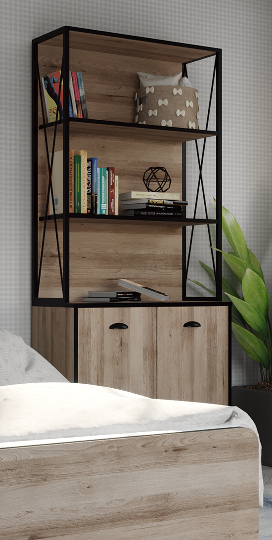 Kids bookcase (TEEN 1 - MELAMINE K14)
