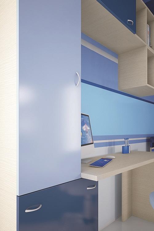 fec1c3bb61b ΠΑΙΔΙΚΑ ΕΠΙΠΛΑ - ΝΕΑΝΙΚΑ ΕΠΙΠΛΑ - Παιδικά δωμάτια ECONOMY από ξύλο  μελαμίνηs με MDF λακαριστά->Παιδικό δωμάτιο ΑΜΟΡΓΟΣ 10 Ξύλο Μελαμίνη Δρυς -  Λάκα Νο. 5 ...