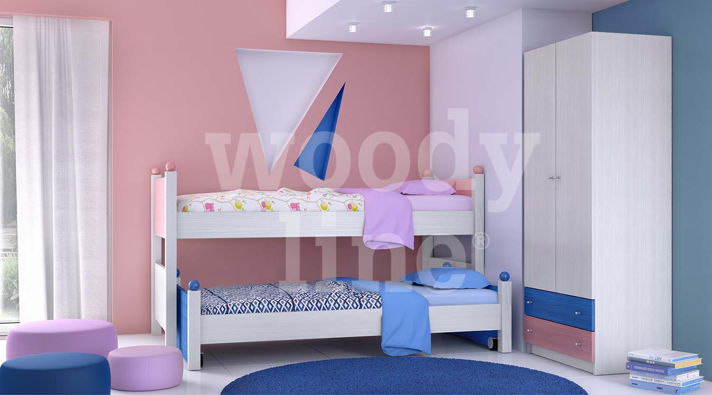7542348a002 ΠΑΙΔΙΚΑ ΕΠΙΠΛΑ - ΝΕΑΝΙΚΑ ΕΠΙΠΛΑ - Παιδικά δωμάτια από ξύλο μασίφ δεσποτάκι  μέλιο - MDF καπλαμά